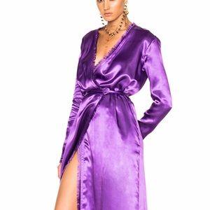 ATTICO Robe Style Raquel Dress in Purple Satin